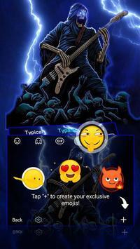 Thunder Rock skull Keyboard theme screenshot 3