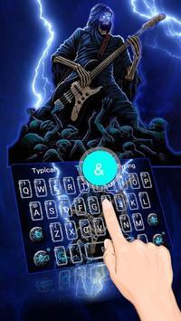 Thunder Rock skull Keyboard theme poster