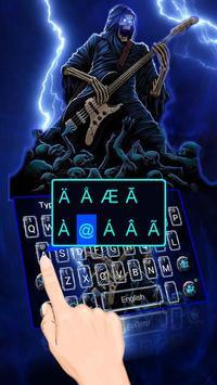 Thunder Rock skull Keyboard theme screenshot 1