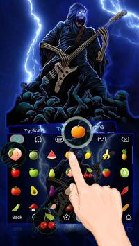 Thunder Rock skull Keyboard theme apk screenshot