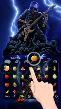 Thunder Rock skull Keyboard theme screenshot 2