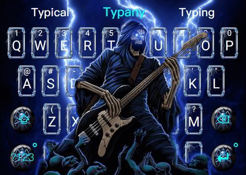 Thunder Rock skull Keyboard theme screenshot 4