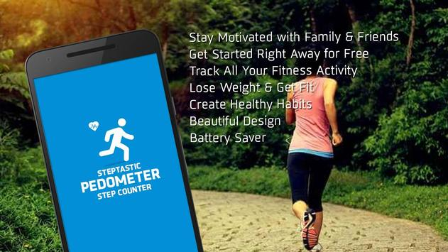 Steptastic Pedometer Step Counter poster