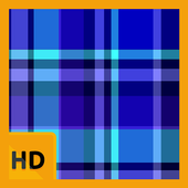 Blue Plaid and Stripes HD FREE Wallpaper icon