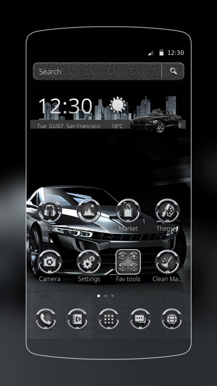 Black Cool Car Theme for Android - APK Download