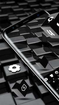 Black Cube Cool Keyboard for Huawei 10 poster