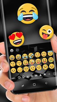 Black Cube Cool Keyboard for Huawei 10 screenshot 1