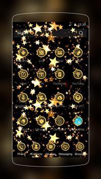 Gold and Black Stars Bowknot Theme apk screenshot