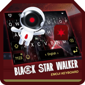 Black Star Walker Theme&Emoji Keyboard icon