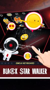 Black Star Walker Theme&Emoji Keyboard apk screenshot