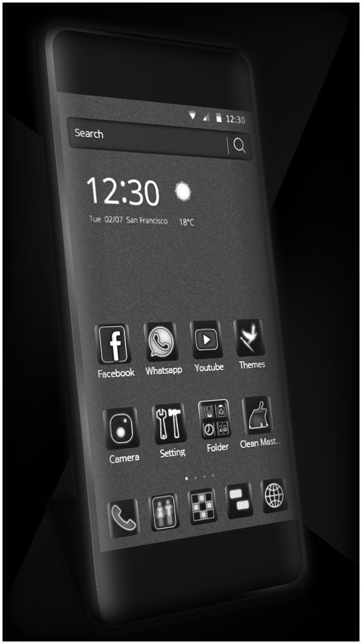 Black Cool Neat Theme for Android - APK Download