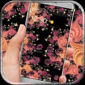 Black pink flower theme icon