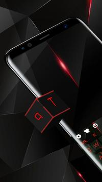 Black Red Polygon Input poster