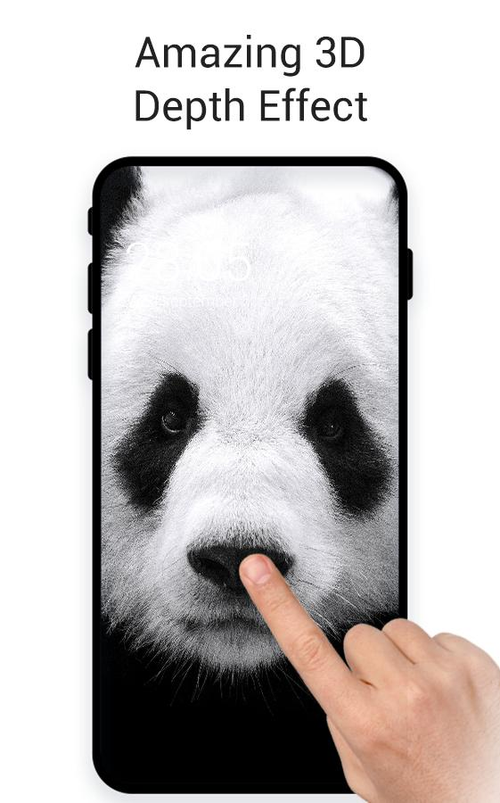 Black White Cute Panda Live 3d Wallpaper For Android Apk