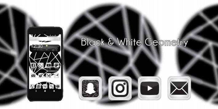 Black and White Geometry Lines apk screenshot