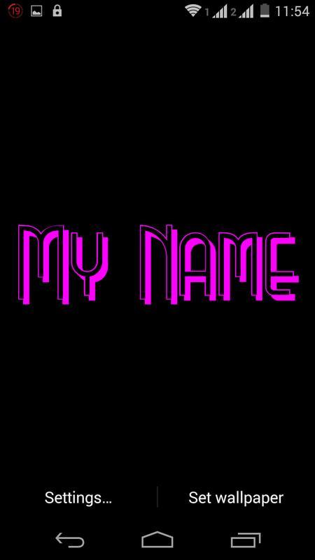 My Name 3d Live Wallpaper Pour Android Téléchargez Lapk