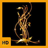 Black and Gold HD FREE Wallpaper icon