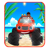 Blaze machines truck monster icon