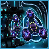 Fidget Spinner Neon Space Tech icon