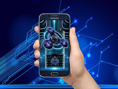 Fidget Spinner Neon Space Tech apk screenshot