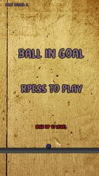 Ball in goal poster