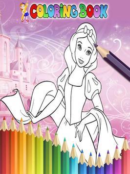 How To Color Disney Princess - Coloring Book Free screenshot 5