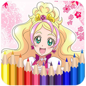 How To Color Pretty Cure - Coloring Book Free icon