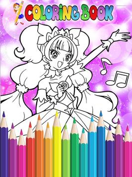 How To Color Pretty Cure - Coloring Book Free poster