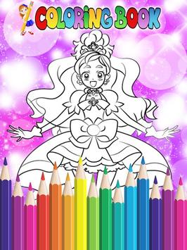 How To Color Pretty Cure - Coloring Book Free screenshot 1