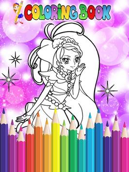 How To Color Pretty Cure - Coloring Book Free screenshot 2