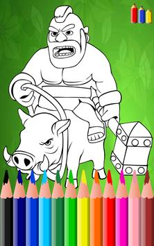Coloring Book For Clash Of Clans poster