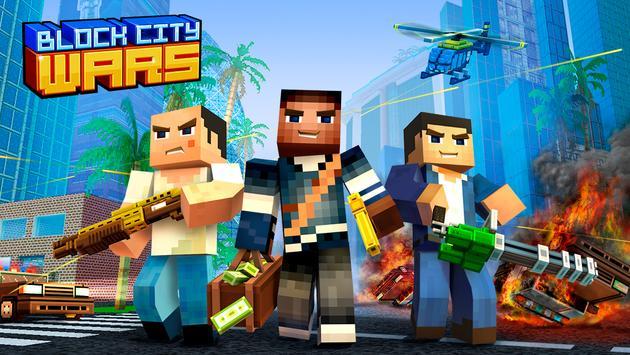 Block City Wars + skins export poster