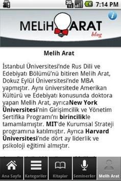Melih Arat poster