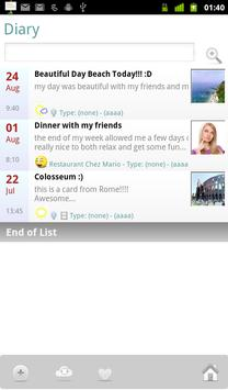 MyLifebook Diary Free screenshot 1