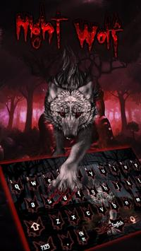 Blood Wolf Keyboard Theme poster