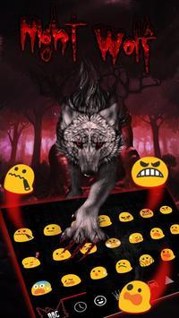 Blood Wolf Keyboard Theme screenshot 2