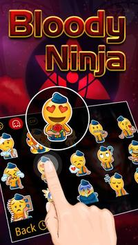 Bloody Ninja Theme&Emoji Keyboard apk screenshot
