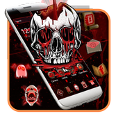 Red Bleed Skull Theme icon
