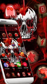Red Bleed Skull Theme screenshot 3