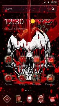 Red Bleed Skull Theme poster