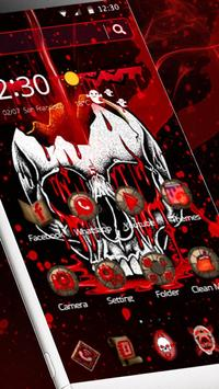 Red Bleed Skull Theme screenshot 5