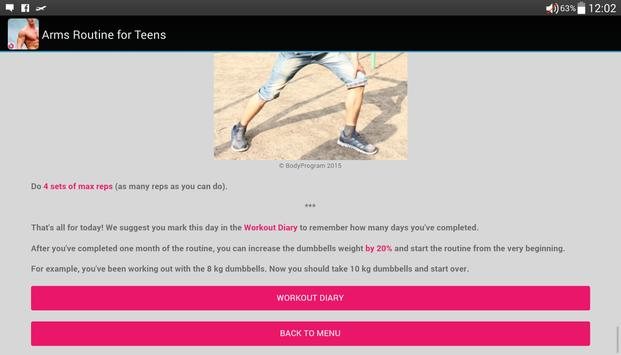 Arms Routine for Teens apk screenshot
