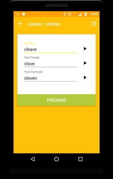 English Irregular Verbs Droid apk screenshot