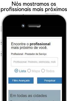 Encontre profissionais e clientes - App de serviço poster