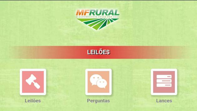 MF Rural Leilões poster