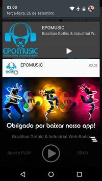 EPOMUSIC - Brazilian Gothic & Industrial Web Radio screenshot 6