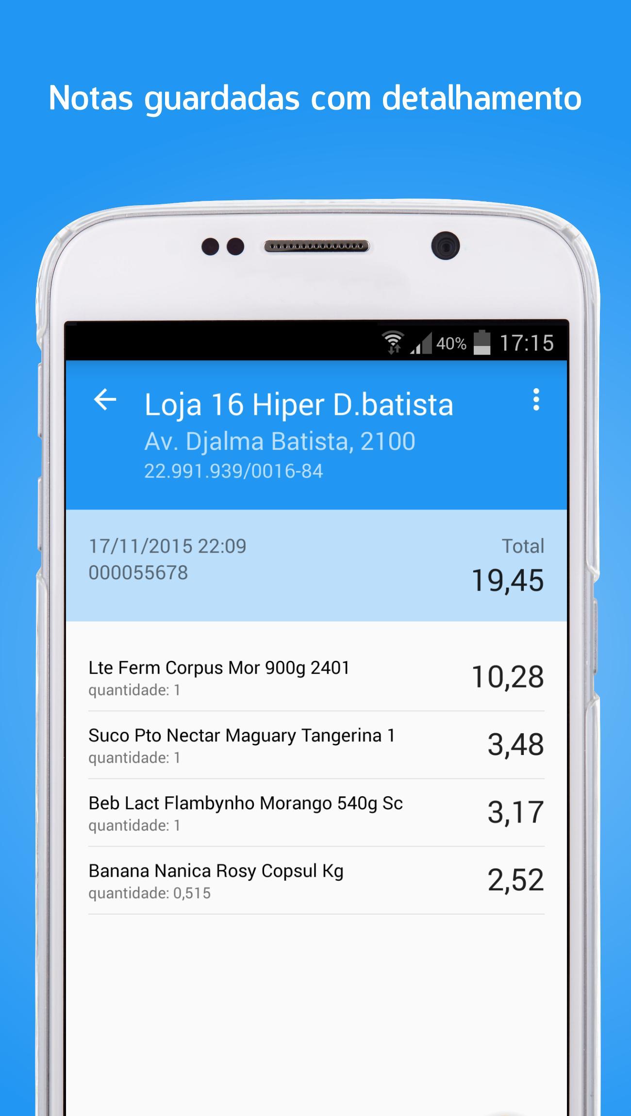 Scan Nota Leitor QR Code NFC-e para Android - APK Baixar