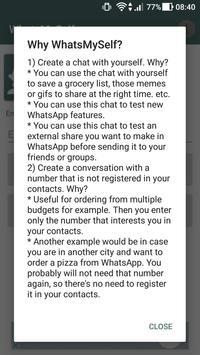 WhatsMySelf screenshot 1