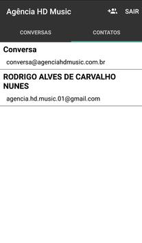 Bate papo Agência HD Music screenshot 3