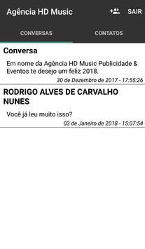 Bate papo Agência HD Music screenshot 2